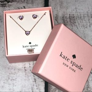 kate spade Jewelry - NWT Mini Crystal Necklace & Earring Set